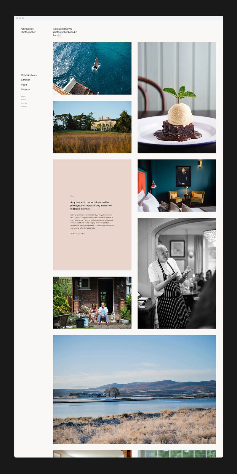 Amy Murrell - How to make a photographers portfolio website